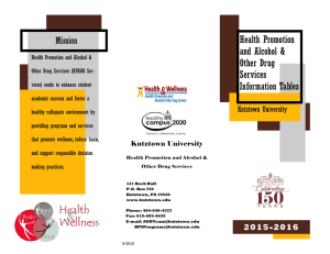 Health Promotion and Alcohol & Other Drug Services