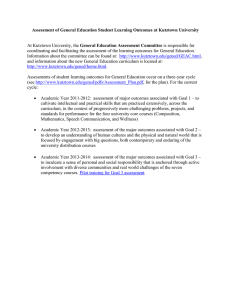 Assessment of General Education Student Learning Outcomes at Kutztown University