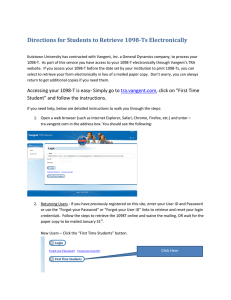 Directions for Students to Retrieve 1098-Ts Electronically