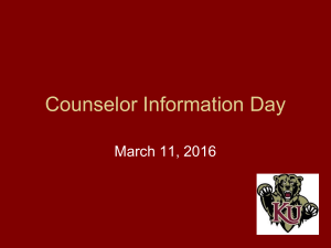 Counselor Information Day March 11, 2016