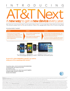 AT&T Next No down payment