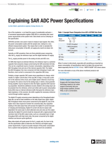 Explaining SAR ADC Power Specifications  | Join