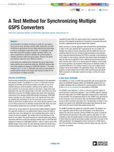 A Test Method for Synchronizing Multiple GSPS Converters  |