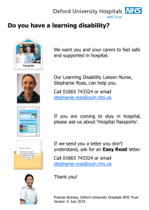 Do you have a learning disability?