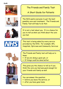 The Friends and Family Test A Short Guide for Patients
