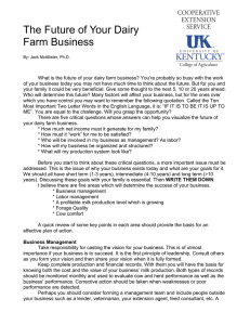The Future of Your Dairy Farm Business
