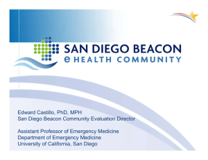 Edward Castillo, PhD, MPH San Diego Beacon Community Evaluation Director