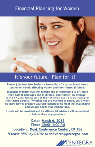 Financial Planning for Women It's your future.  Plan for it!