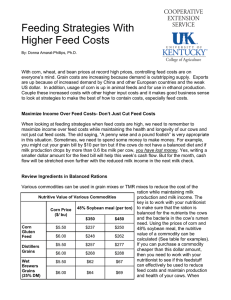 Feeding Strategies With Higher Feed Costs