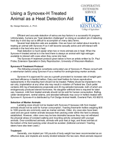Using a Synovex-H Treated Animal as a Heat Detection Aid