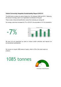 Oxford University Hospitals Sustainability Report 2012/13