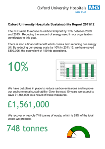 Oxford University Hospitals Sustainability Report 2011/12
