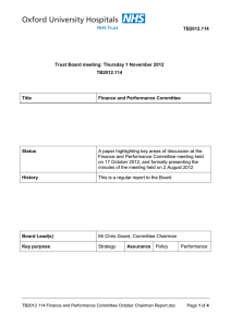 TB2012.114 Trust Board meeting: Thursday 1 November 2012 Title