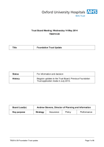 Trust Board Meeting: Wednesday 14 May 2014 TB2014.59 Title