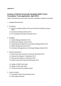 Content of Oxford University Hospitals NHS Trust's