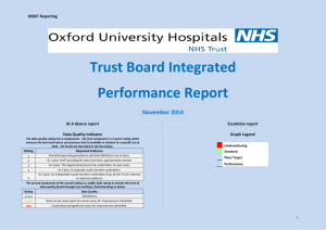 Trust Board Integrated Performance Report November 2014 ORBIT Reporting