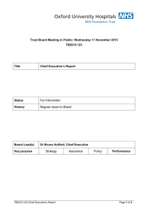 Trust Board Meeting in Public: Wednesday 11 November 2015 TB2015.123 Title