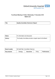 Trust Board Meeting in Public: Wednesday 11 November 2015 TB2015.125 Title