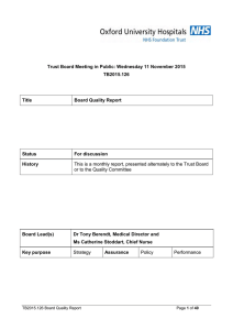 Trust Board Meeting in Public: Wednesday 11 November 2015 TB2015.126 Title