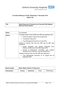 Trust Board Meeting in Public: Wednesday 11 November 2015 TB2015.138 Title