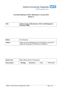 Trust Board Meeting in Public: Wednesday 13 January 2016 TB2016.17 Title
