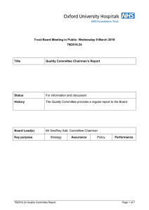 Trust Board Meeting in Public: Wednesday 9 March 2016 TB2016.24