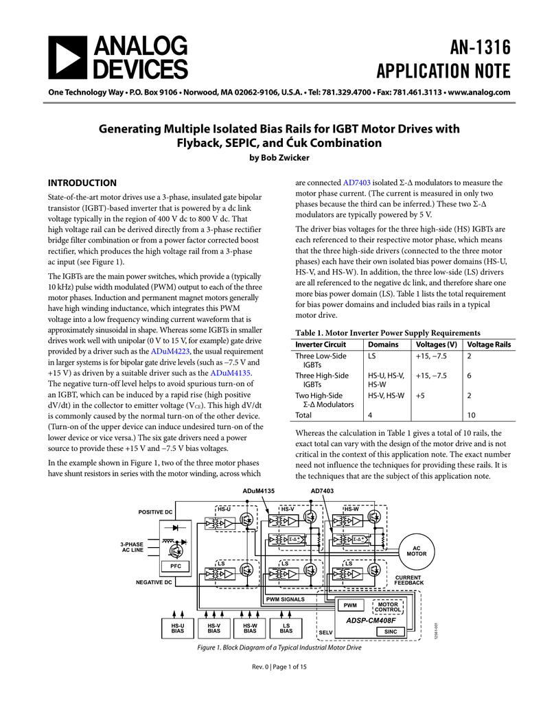 An 1316 Application Note Igbt Inverter Circuit Transistor Likewise Motor Drive On