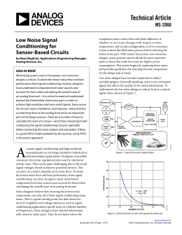 Technical Article Low Noise Signal Conditioning for MS-2066