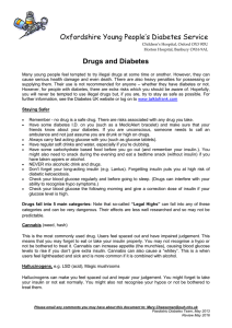 Oxfordshire Young People's Diabetes Service Drugs and Diabetes