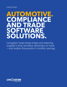 AUTOMOTIVE.  COMPLIANCE AND TRADE