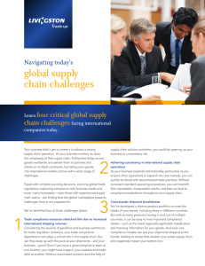 global supply chain challenges four critical global supply Navigating today's