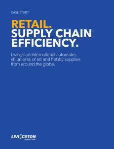 RETAIL.  SUPPLY CHAIN EFFICIENCY.