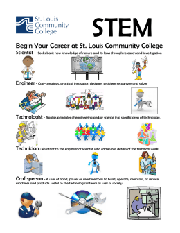 STEM  Begin Your Career at St. Louis Community College Scientist