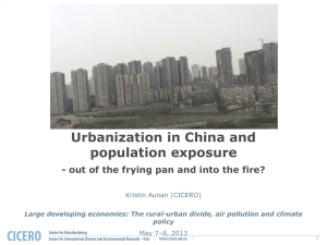 Urbanization in China and population exposure