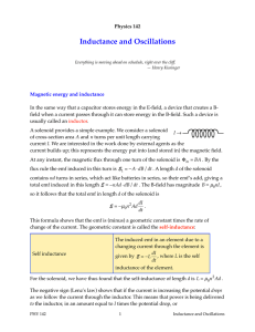Inductance and Oscillations
