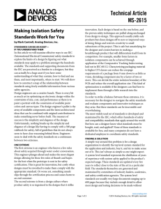 Technical Article MS-2615 Making Isolation Safety
