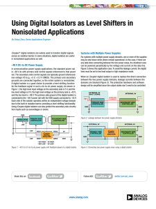 Using Digital Isolators as Level Shifters in Nonisolated Applications i