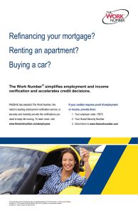 Refinancing your mortgage? Renting an apartment? Buying a car? The Work Number