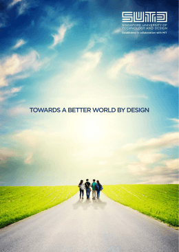 TOWARDS A BETTER WORLD BY DESIGN