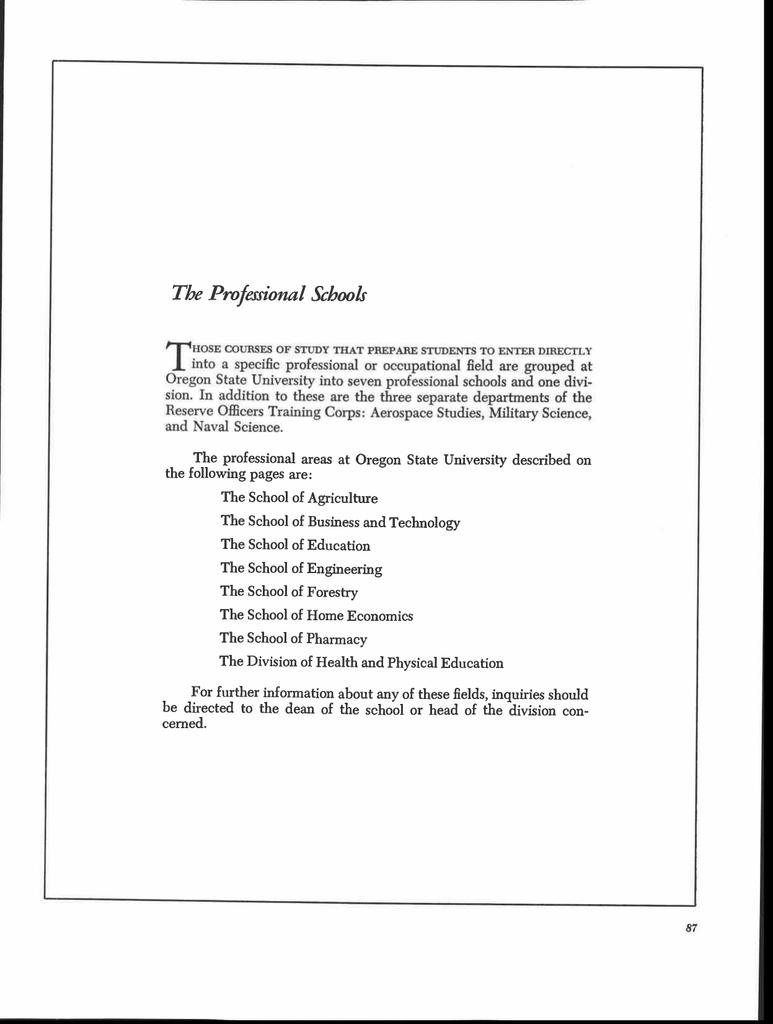 The Professional s University on
