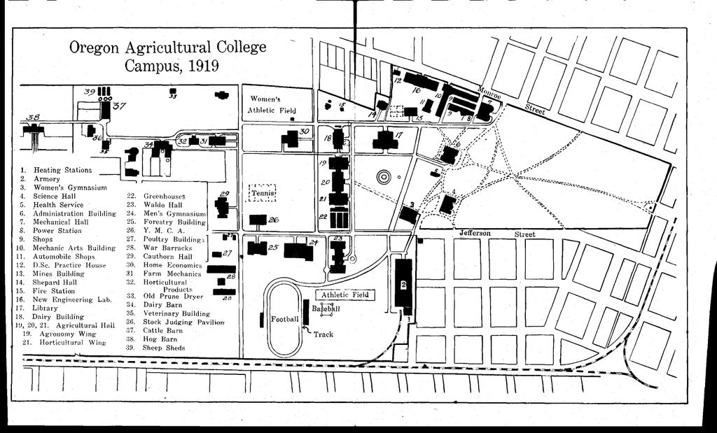 0 Oregon Agricultural College Campus 1919