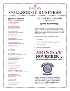 college of business advisory board
