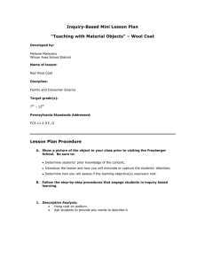 "Inquiry-Based Mini Lesson Plan ""Teaching with Material Objects"" – Wool Coat"