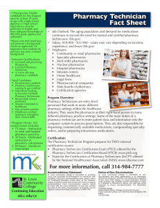 Pharmacy Technician Fact Sheet