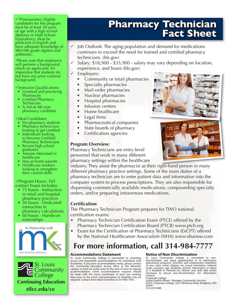 Pharmacy Technician Fact Sheet