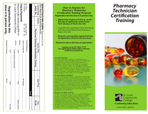 Pharmacy Technician Certification Training