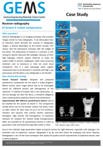 Case Study  Neutron radiography of Ariane 5 rocket components