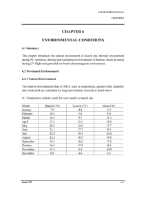CHAPTER 6 ENVIRONMENTAL CONDITIONS
