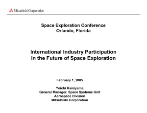 International Industry Participation In the Future of Space Exploration Space Exploration Conference