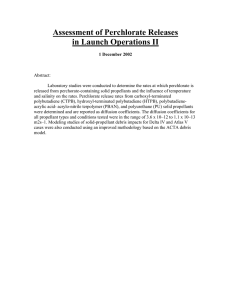 Assessment of Perchlorate Releases in Launch Operations II